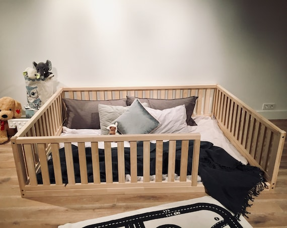 FULL / DOUBLE Montessori toddler beds Frame bed Wood Kids Baby bed Nursery bed Platform bed Children furniture, bed frame