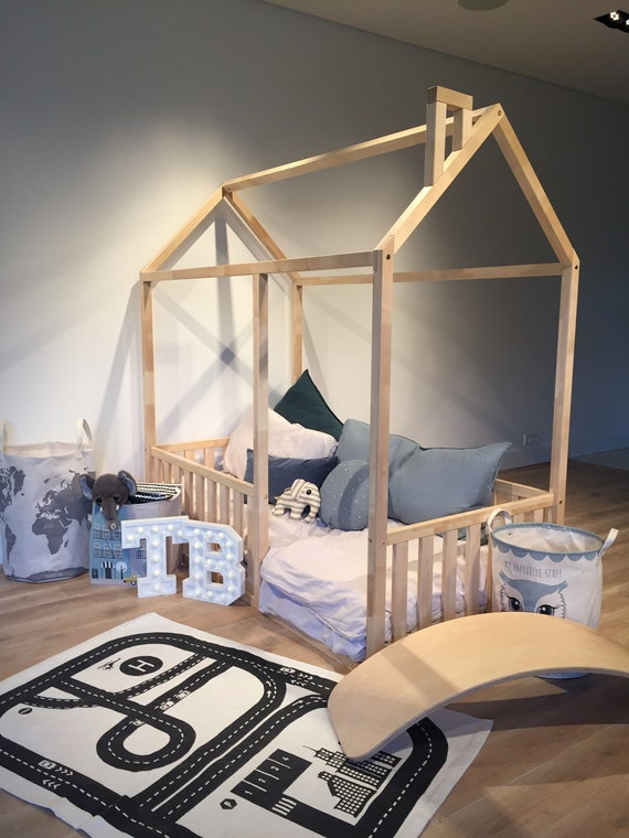 Toddler bed Play house, bed frame, Children bed Bunk bed Home bed Wood house Floor bed Teepee bed Wooden bed Wood house Montessori bed Gift