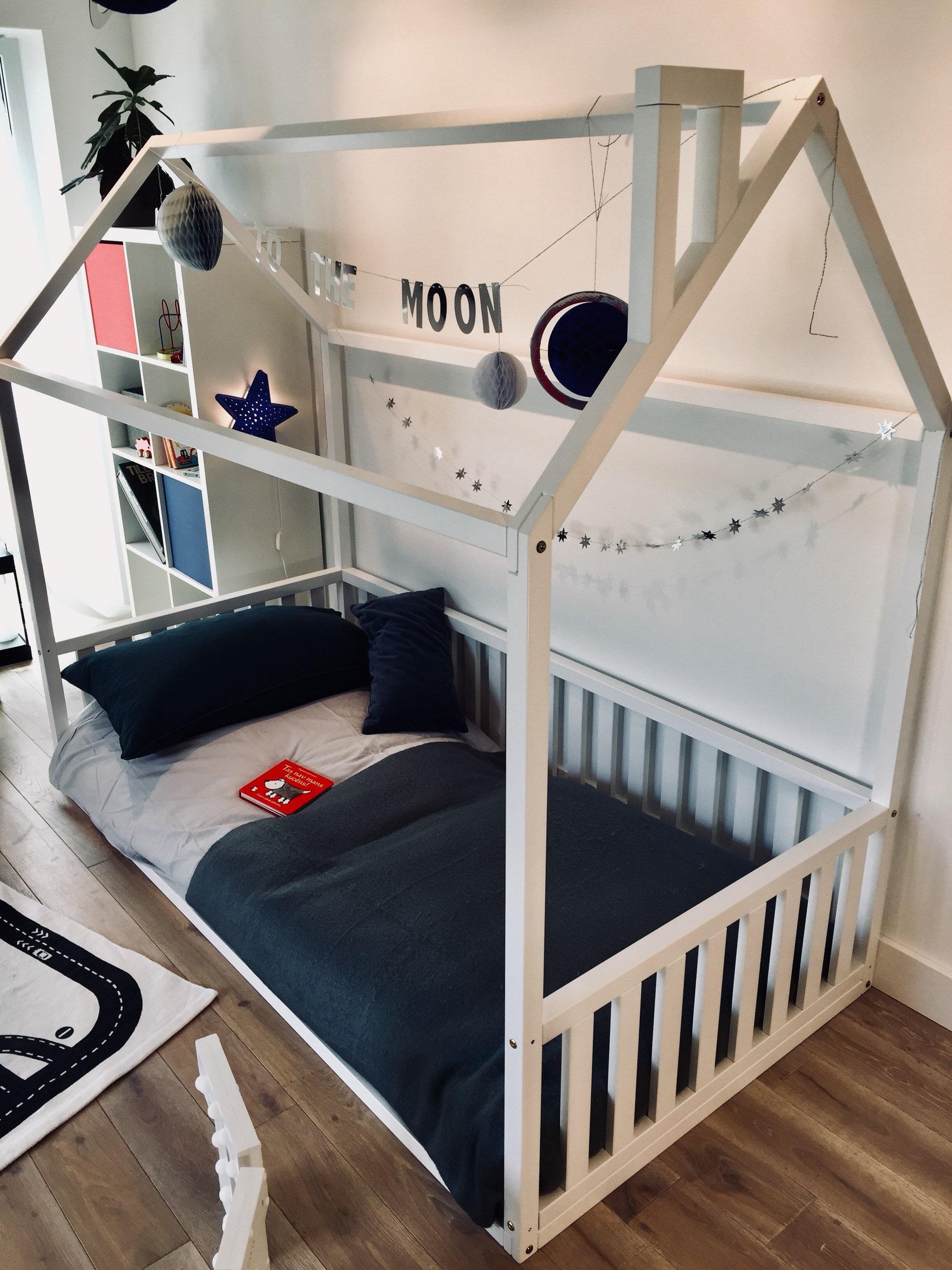 Kinder Bett Kleinkind Bett Bett Kinder Tipi Holz Haus Babybett   Etsy