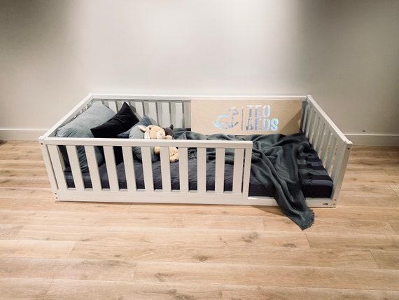 Durable US FULL / DOUBLE Size Montessori toddler Frame bed Wood Kids Baby bed Nursery bed Platform bed Children furniture, bed frame