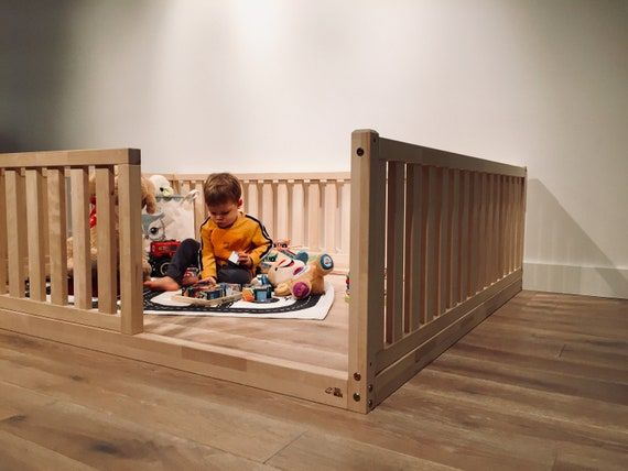 Children playpen, Natural wood, Toddler playground, kids play, montessori furniture