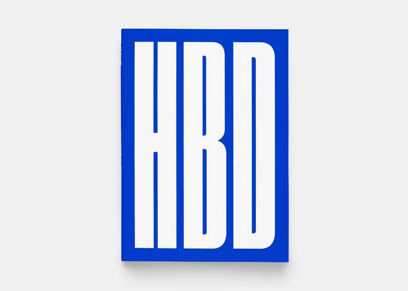 HBD Tall Happy Birthday Greeting Card Blue