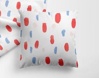 Tricolor Dots Pillow