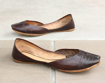 AFEITH STIQUÉ by Naraam : Handmade Slip on All Leather ballet Flats for Women Moroccan style khussa