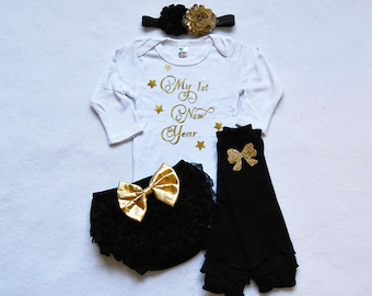 5cf96134829b 2019 my 1st new years baby girl outfit - baby girl new years outfit - baby girl  first new years outfit - happy new year baby girl