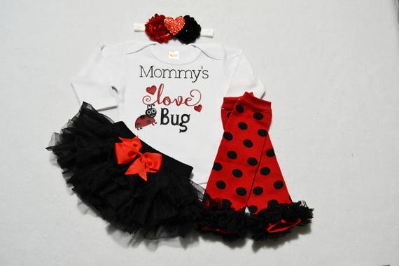 My First Valentines Day Baby Girl Outfit Baby Girl Etsy