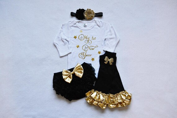 2020 My 1st New Years Baby Girl Christmas Outfit Baby Girl Etsy