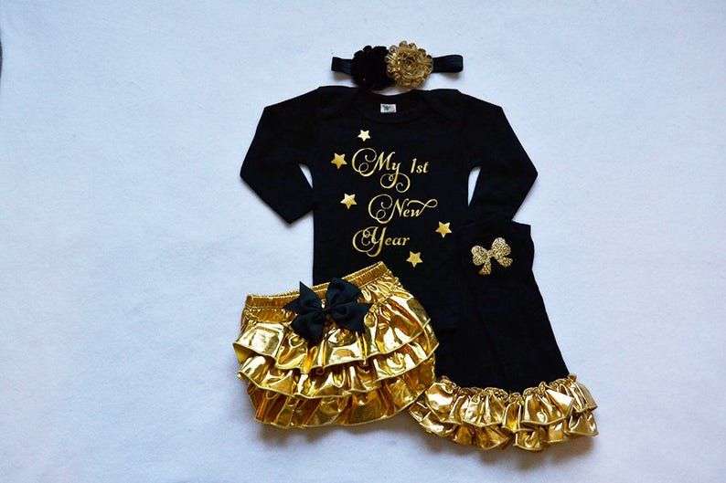 c5727034c151 2019 my 1st new years baby girl outfit baby girl new years | Etsy