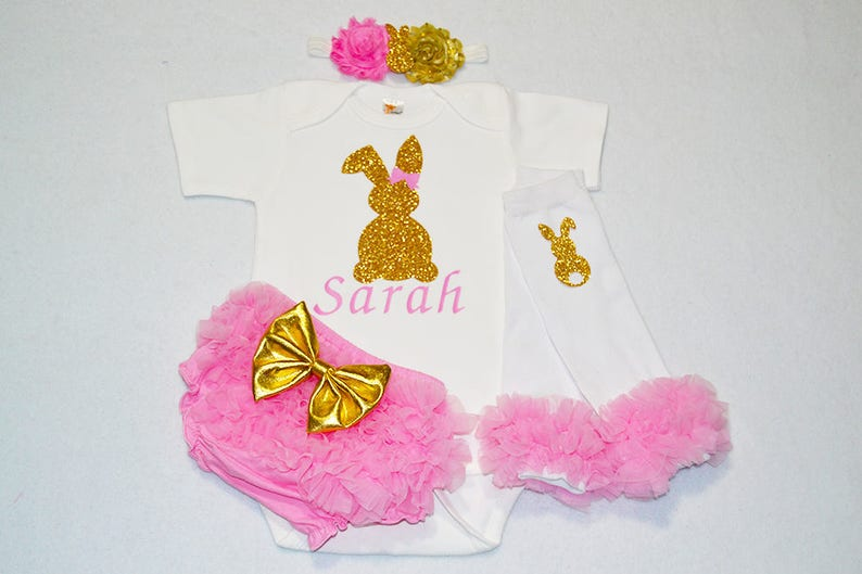 custom easter my first easter baby girl outfit personalized easter baby girl baby girl easter outfit baby girl my 1st easter outfit