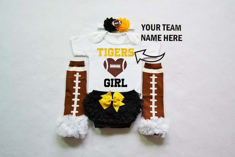 girl high school football baby girls football outfit baby football jersey girls football bodysuit baby girls college football outfit