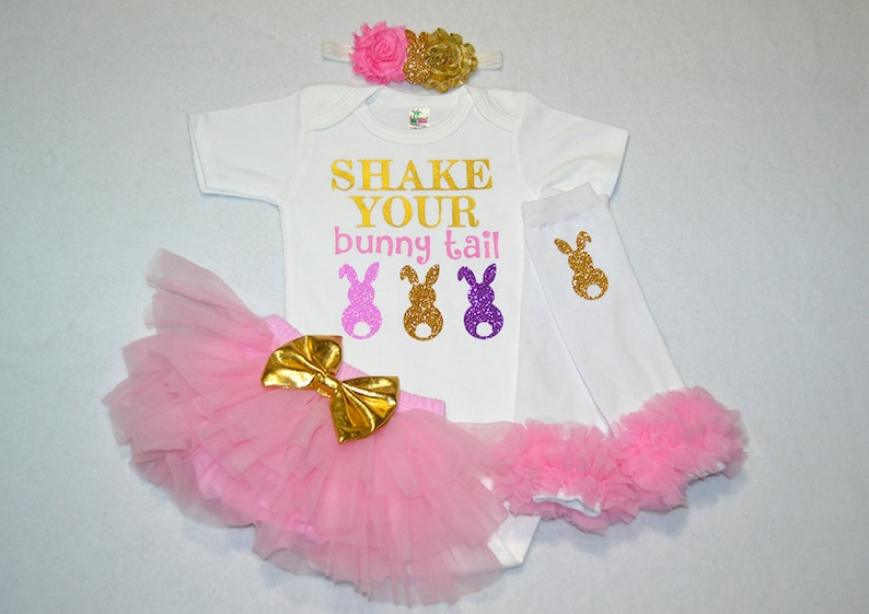 baby girl my first easter outfit baby girl easter outfit my first easter baby girl outfit shake your bunny tail baby girl -