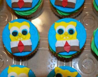 Spongebob and Patrick Cupcake Toppers