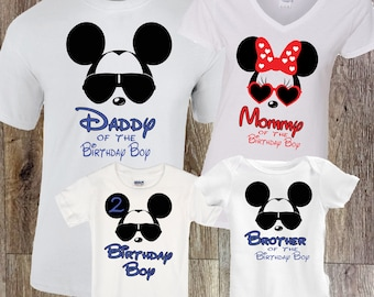 Disney Birthday Shirt Family Shirts Mickey Minnie Dad Of The Boy