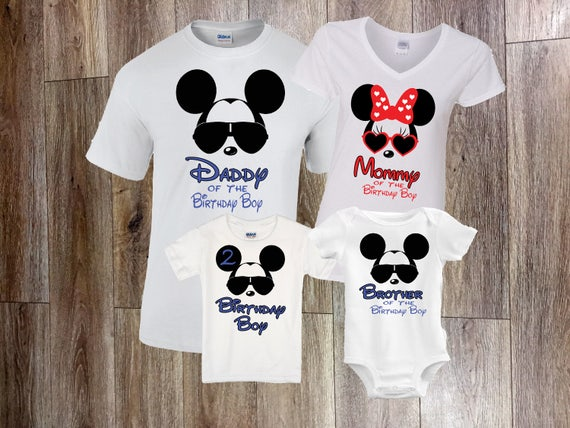 Disney Birthday Shirt Family Shirts Mickey
