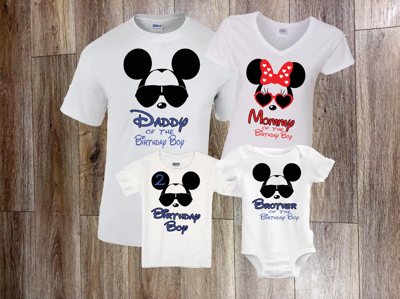 Disney Birthday Shirt Family Disney Shirts Mickey birthday ...