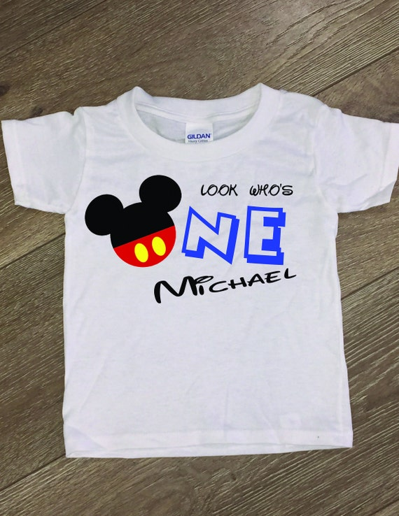 Mickey Birthday Shirt First Boy Mouse