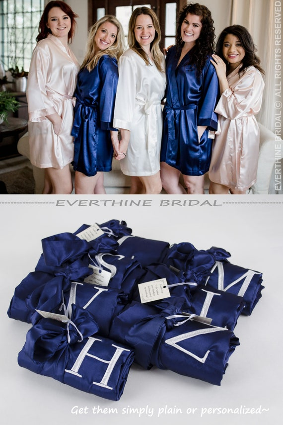 8cacd23c19 bridesmaids robes set of 11 slumber party robes navy