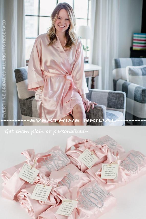 14cfc1c51f wedding robes set of 5 monogrammed robes blush bridesmaid