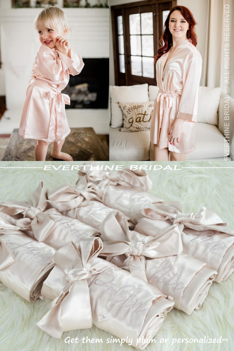 c28ca276102 Set of 13 satin robes flower girl robes slumber party robes
