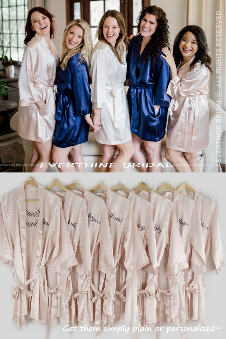 ce706ccf5a Bridesmaids robes set of 10 slumber party robes nude blush