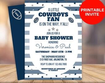 Dallas cowboys invitations Etsy