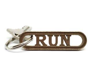 Run Keychain, Running Accessory, Trail Running Gift, Virtual Run Fitness Athlete Sports Jewelry, Track Team Jogger Keychain