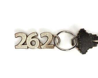 26.2 Marathon Keychain, Gift for Marathoner, Running Keyring, Marathon Gift, Marathon Sports Jewelryr