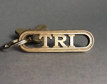 Triathlon Gift, Triathlete Keychain, Swim Bike Run Triathlon Gift for Triathlete, Ironman Gift, Triathlon Jewelry Tri Keychain