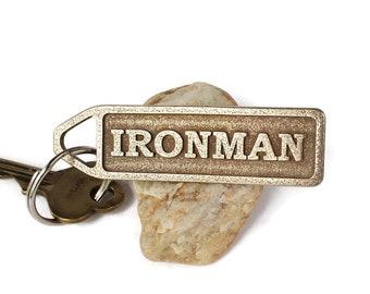 Ironman Triathlon Keychain, Triathlete Gift, Swim Bike Run, Triathlon Inspiration, Tri Life Keyring, 140.6 Iron Man