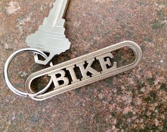 Bike Keychain Gift for Cyclist, Biking Keyring, Bicycle Jewelry, BMX Bicycle Racing Mountain Biking Spin Cycling Accessory Sports Gear