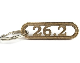 26.2 Marathon Keychain Runner Gift, Marathon Jewelry, Virtual Marathon, Running Keyring, Trail Runner Long Distance Running