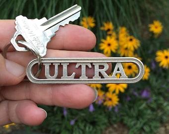 Ultra Marathon Keychain Gift for Ultra Runners, Ultrarunning Keyring, Trail Running Accessory for Elite Athlete, Sports Gift