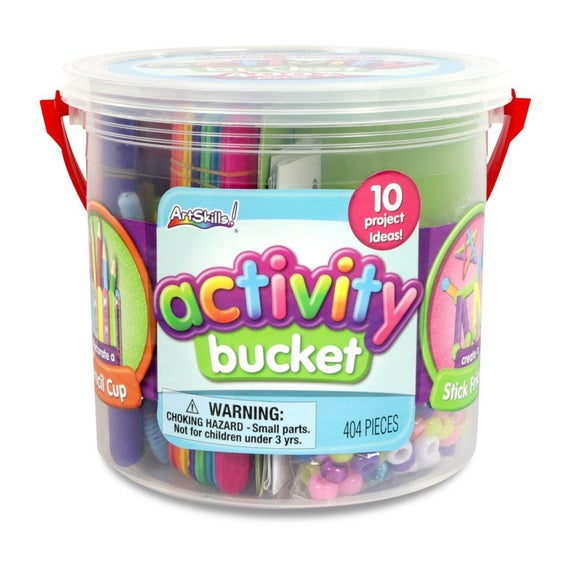 Art Skills Activity Bucket Arts And Crafts Supplies 10 Project Ideas Assorted Colors And Shapes 404 Pieces