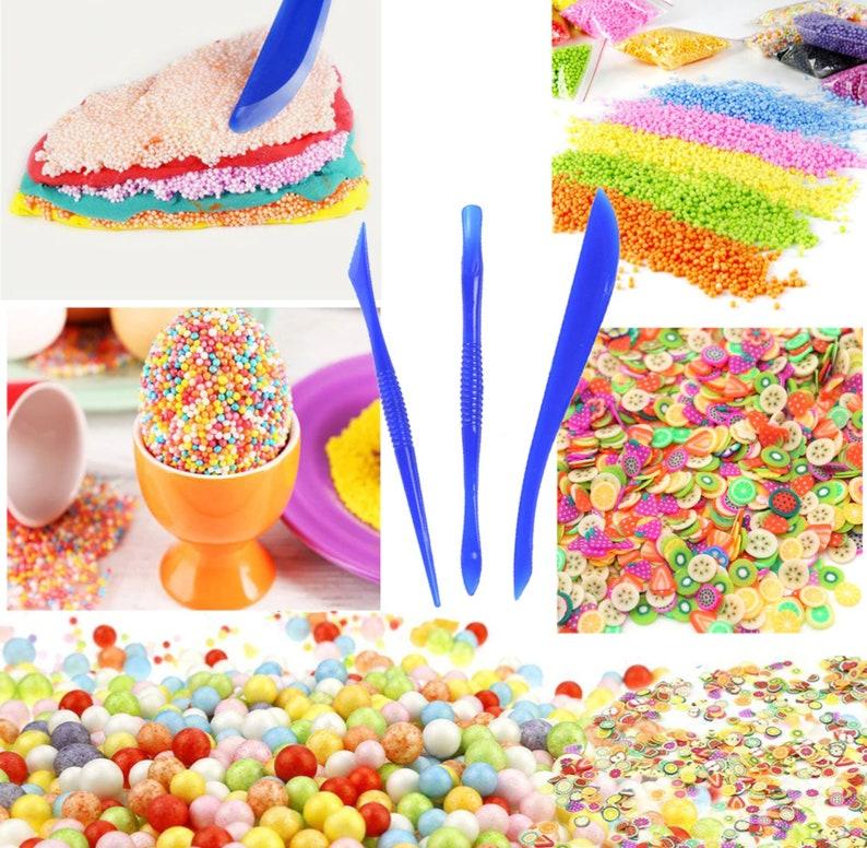 15-Pack Slime Making Kit Styrofoam Beads Foam Balls Fruit Slice DIY Art  Craft Slime Tools Homemade Slime Party Decoration FREE Shipping