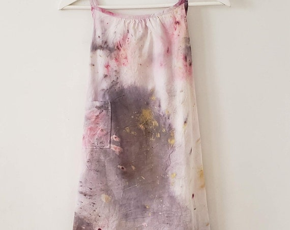 Organic Cotton Bundle Dyed Little Girl's Nightgown | Botanically Dyed Nightgown | Handmade Nightgown | Children's Pajamas | Sleepwear