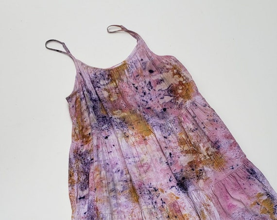 Botanically Dyed Cotton Gauze Summer Dress- SIZE XL