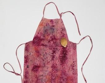 Botanically Dyed Linen Apron