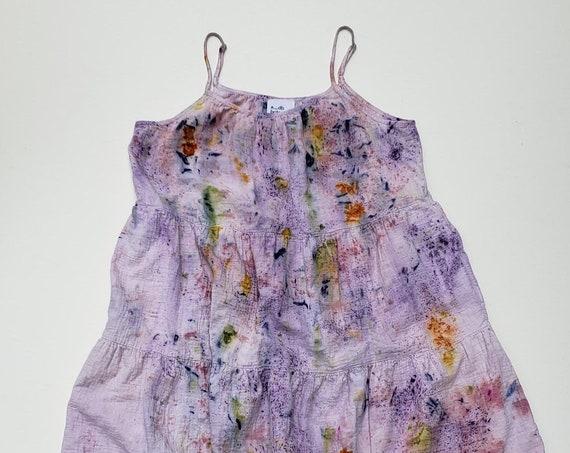 Botanically Dyed Cotton Gauze Summer Dress- SIZE XL