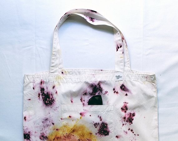 Hand Dyed Large Beach Bag | Beach Bag |  Botanically Dyed Large Bag | Naturally Dyed | Market Bag | Dyed Bag | Tie Dyed Bag