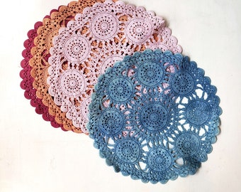 Vintage Lace Doilies Botanically Dyed