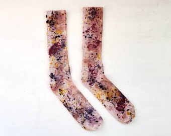 Electric Field Botanically Dyed Bamboo Socks