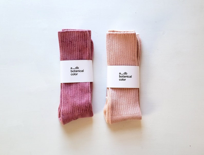 eco Fashion Super Soft Bamboo Plant Dyed Socks Natural Dye Bundle Dyed Socks sustainable Botanically Dyed Socks Tie Dyed Socks