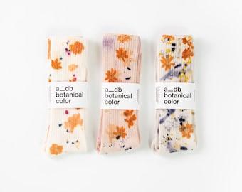Flower Power Bamboo Plant Dyed Socks