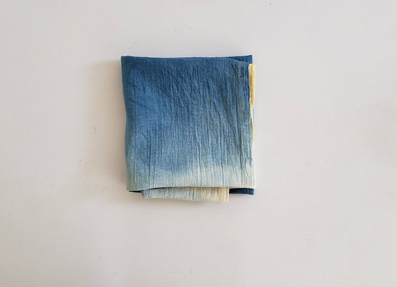 Indigo Dip-Dyed Floursack Tea Towel- SINGLE