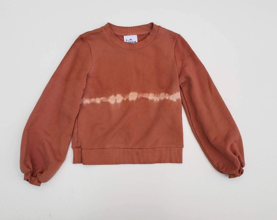 Botanically Dyed Balloon Sleeved Sweatshirt-SIZE S