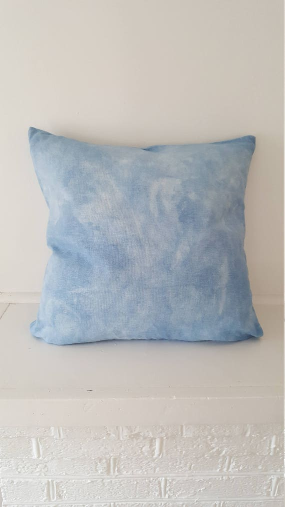 Indigo Dyed  Cushion Cover / Down Insert / Indigo Blue Dyed Pillow / Decorative Pillow / Hand dyed / Housewarming gift / Natural Color