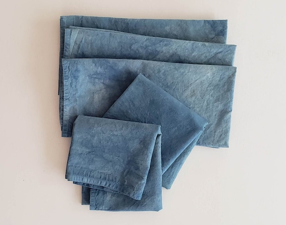 Organic Cotton Dinner Napkins Indigo Dyed
