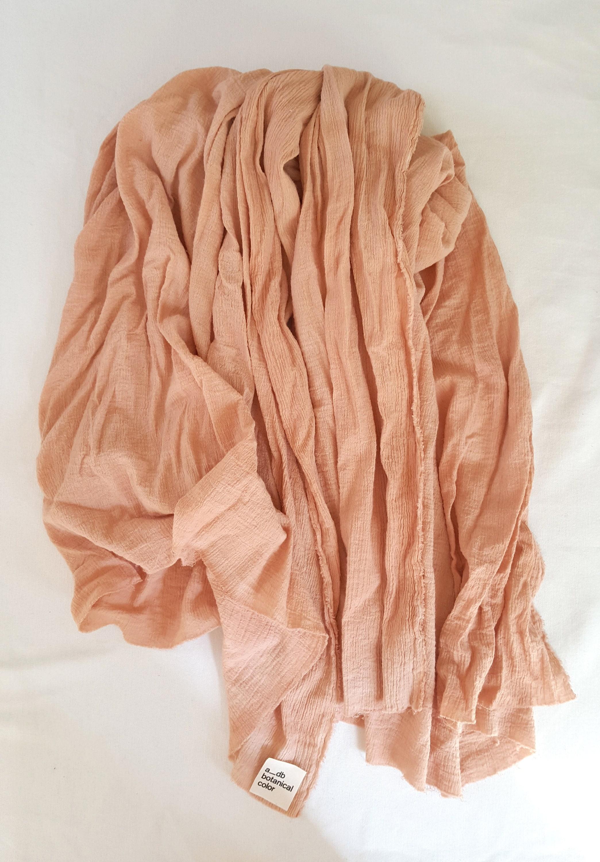 Organic cotton bandana Sustainable dyed cotton scarf. naturally dyed Woman bandana plant dyed Botanical dyed boho cotton bandana