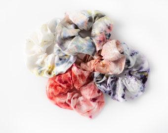 Botanically Dyed Silk Hair Scrunchie