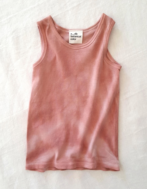 Botanically Dyed Children's Tank / Kids Tank Top / Eco Fashion / Slow Fashion / Hand Dyed / Botanical Color / Natural Color / Summer